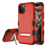 Military Grade Certified TUFF Hybrid Armor Case with Kickstand for iPhone 11 Pro Max - Red
