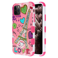 Military Grade Certified TUFF Hybrid Armor Case for iPhone 11 Pro Max - Eiffel Tower