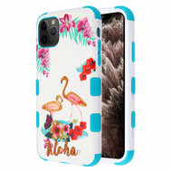 Military Grade Certified TUFF Hybrid Armor Case for iPhone 11 Pro Max - Aloha Flamingo