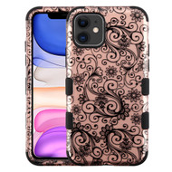Military Grade Certified TUFF Hybrid Armor Case for iPhone 11 - Four Leaf Clover Rose Gold
