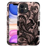 Military Grade Certified TUFF Hybrid Armor Case for iPhone 11 - Phoenix Flower Rose Gold