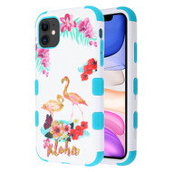 Military Grade Certified TUFF Hybrid Armor Case for iPhone 11 - Aloha Flamingo