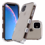 Military Grade Certified TUFF Lucid Transparent Hybrid Armor Case for iPhone 11 - Smoke