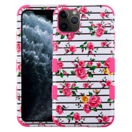 Military Grade Certified TUFF Hybrid Armor Case for iPhone 11 Pro - Pink Fresh Roses