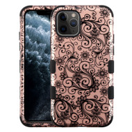 Military Grade Certified TUFF Hybrid Armor Case for iPhone 11 Pro - Four Leaf Clover Rose Gold