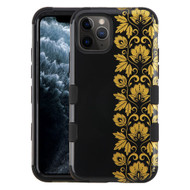 Military Grade Certified TUFF Hybrid Armor Case for iPhone 11 Pro - Floral Gold
