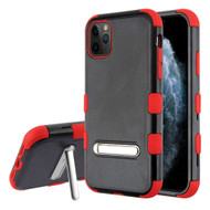 Military Grade Certified TUFF Hybrid Armor Case with Kickstand for iPhone 11 Pro - Black Red