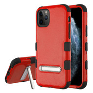 Military Grade Certified TUFF Hybrid Armor Case with Kickstand for iPhone 11 Pro - Red