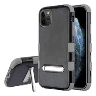 Military Grade Certified TUFF Hybrid Armor Case with Kickstand for iPhone 11 Pro - Black Grey