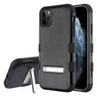 Military Grade Certified TUFF Hybrid Armor Case with Kickstand for iPhone 11 - Black