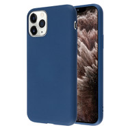 Liquid Silicone Protective Case for iPhone 11 Pro Max - Navy Blue