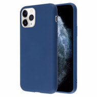 Liquid Silicone Protective Case for iPhone 11 Pro - Navy Blue
