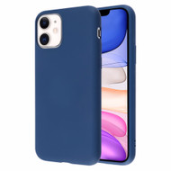 Liquid Silicone Protective Case for iPhone 11 - Navy Blue