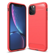 *Sale* Brushed Metal Design Rugged Armor Case for iPhone 11 Pro Max - Red