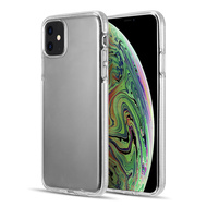 Crystal Clarity TPU Case with Bumper Support for iPhone 11 - Clear White