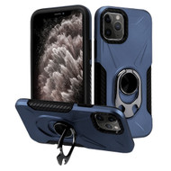 Multifunctional Hybrid Case with 360° Bottle Opener Rotating Ring Holder Kickstand for iPhone 11 Pro Max - Navy Blue