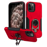 Multifunctional Hybrid Case with 360° Bottle Opener Rotating Ring Holder Kickstand for iPhone 11 Pro Max - Red