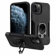Multifunctional Hybrid Case with 360° Bottle Opener Rotating Ring Holder Kickstand for iPhone 11 Pro - Black