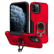 Multifunctional Hybrid Case with 360° Bottle Opener Rotating Ring Holder Kickstand for iPhone 11 Pro - Red