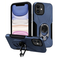 Multifunctional Hybrid Case with 360° Bottle Opener Rotating Ring Holder Kickstand for iPhone 11 - Navy Blue