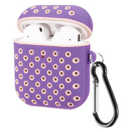 Perforated Hard Shell Protective Case for Apple AirPods - Purple Pink