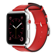Genuine Leather Strap Band for Apple Watch 40mm / 38mm - Red