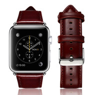 *SALE* Genuine Cowhide Leather Watch Band for Apple Watch 40mm / 38mm - Dark Brown