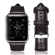 Genuine Cowhide Leather Watch Band for Apple Watch 40mm / 38mm - Black