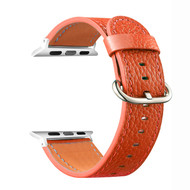 Textured Epsom Genuine Cowhide Leather Watch Band for Apple Watch 40mm / 38mm - Orange