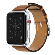 Genuine Leather Strap Band for Apple Watch 44mm / 42mm - Brown