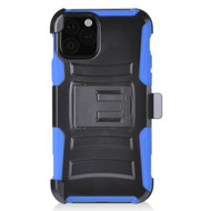 *Sale* Advanced Armor Hybrid Kickstand Case with Holster Belt Clip for iPhone 11 Pro Max - Blue