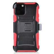 Advanced Armor Hybrid Kickstand Case with Holster Belt Clip for iPhone 11 Pro Max - Red