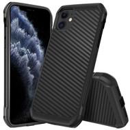 Tough Anti-Shock Hybrid Case for iPhone 11 - Carbon Fiber Black