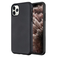 Carbon Fiber Hybrid Case for iPhone 11 Pro Max - Black 661