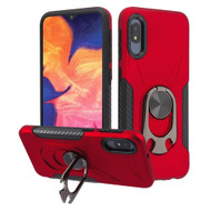 Multifunctional Hybrid Case with 360° Bottle Opener Rotating Ring Holder Kickstand for Samsung Galaxy A10e - Red