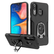 *Sale* Multifunctional Hybrid Case with 360° Bottle Opener Ring Holder Kickstand for Samsung Galaxy A50 / A20 - Black