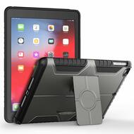 Advanced Armor Hybrid Kickstand Case for iPad (2018/2017) / iPad Air - Dark Grey