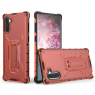 Honeycomb Transparent Case with Kickstand for Samsung Galaxy Note 10 - Red