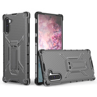 Honeycomb Transparent Case with Kickstand for Samsung Galaxy Note 10 - Smoke
