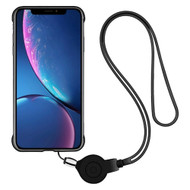 *Sale* Slim Frosty Semi Transparent Fusion Case with Lanyard for iPhone XR - Black