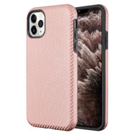 Carbon Fiber Hybrid Case for iPhone 11 Pro Max - Rose Gold