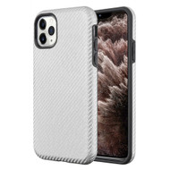 Carbon Fiber Hybrid Case for iPhone 11 Pro Max - Silver