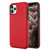 Carbon Fiber Hybrid Case for iPhone 11 Pro Max - Red