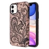 Fuse Slim Armor Hybrid Case for iPhone 11 - Phoenix Flower Rose Gold