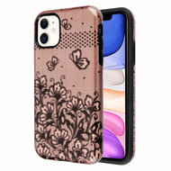 Fuse Slim Armor Hybrid Case for iPhone 11 - Lace Flowers Rose Gold