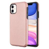 Carbon Fiber Hybrid Case for iPhone 11 - Rose Gold