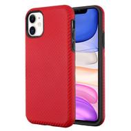 Carbon Fiber Hybrid Case for iPhone 11 - Red