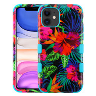 Military Grade Certified TUFF Hybrid Armor Case for iPhone 11 - Electric Hibiscus