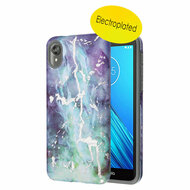 *Sale* Fuse Slim Armor Hybrid Case for Motorola Moto E6 - Marble Green Purple