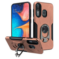 Multifunctional Hybrid Case with 360° Bottle Opener Rotating Ring Holder Stand for Samsung Galaxy A50 / A20 - Rose Gold